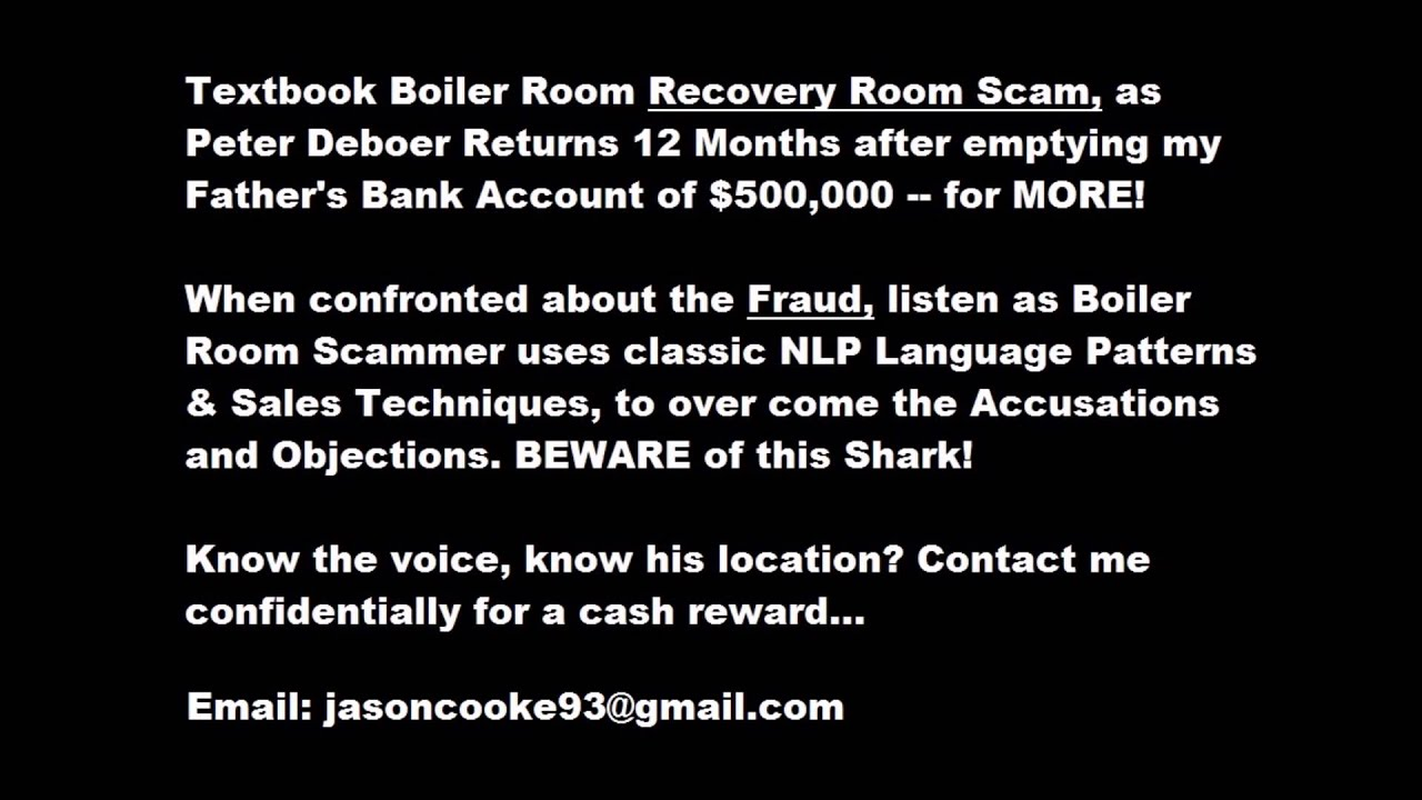 What Is A Boiler Room Scam
