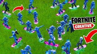 """100"" OSÓB NA DESCE! ZBUGOWANY SERVER!  | Fortnite Creative"