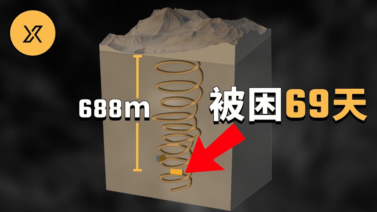 智利礦難事件,33名礦工被困地下688米處