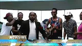 Kenny guitar with kings music at AZAM TV