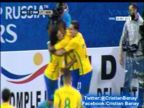 Brasil 3 Paraguay 0 (Relato Julian Bricco) Eliminatorias Rusia 2018