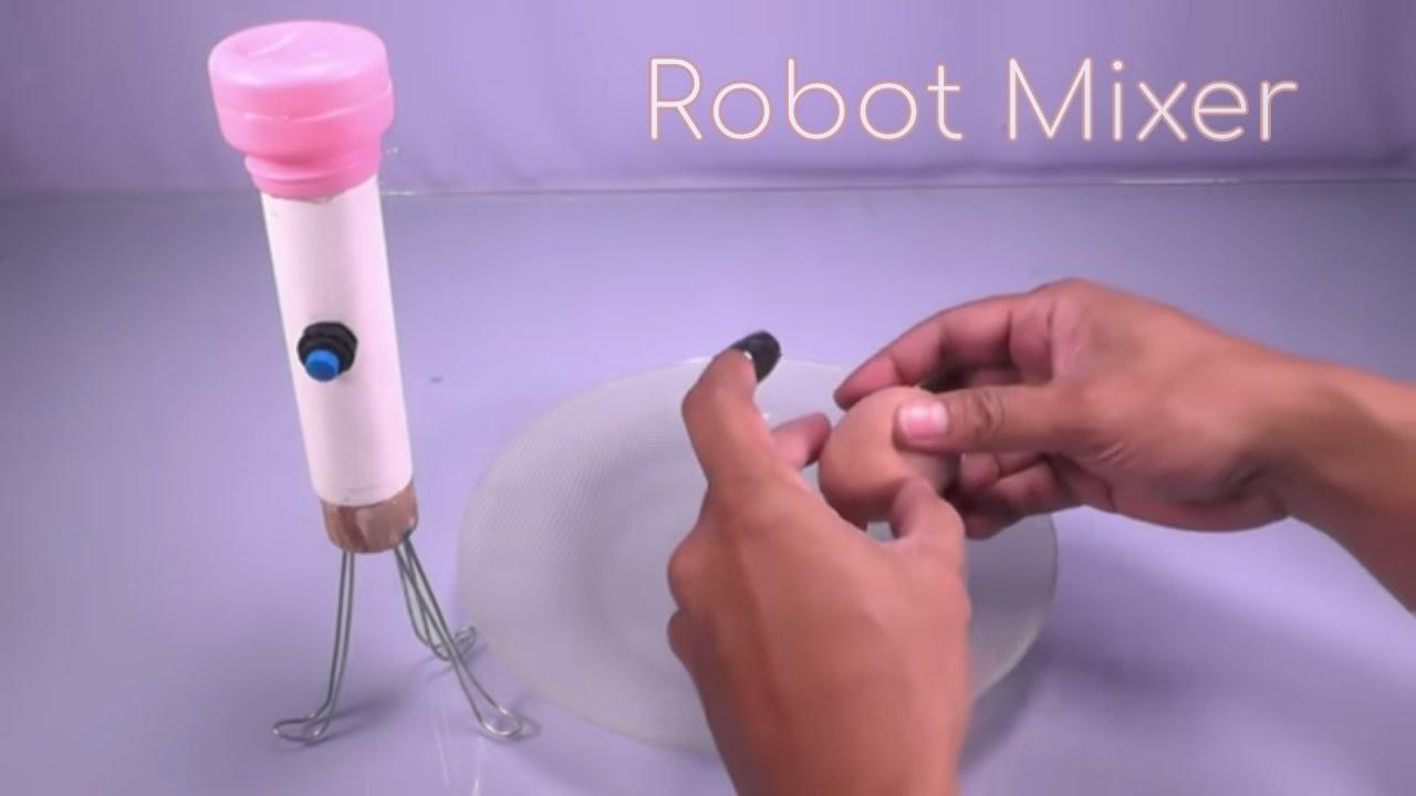 How to Make Automatic Stir Mixer (Mixer Robot)