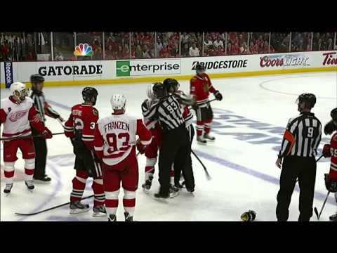 Justin Abdelkader hip toss on Dave Bolland May 15 2013 Detroit Red Wings vs Chicago Blackhawks NHL