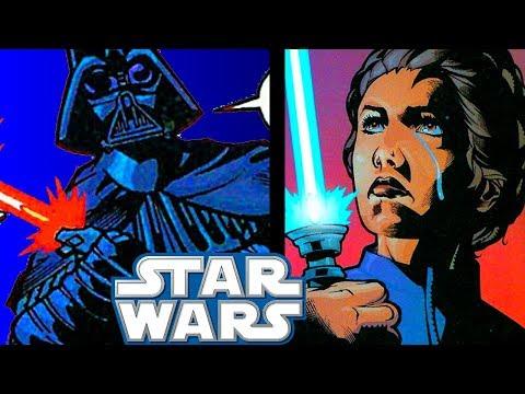 Leia ATTACKS Darth Vader With Kenobis Lightsaber  Star Wars Infinites Explained