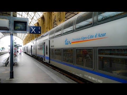 Riding the Train from Nice To Monaco