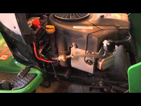 Why my John Deere l120 mower did not start - YouTube