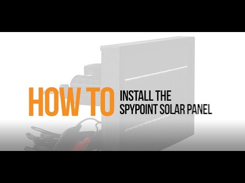 Video: How to Install a Solar Panel with your SPYPOINT Camera | SPYPOINT