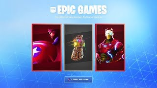 GRATUIT REWARDS IN FORTNITE X AVENGERS!