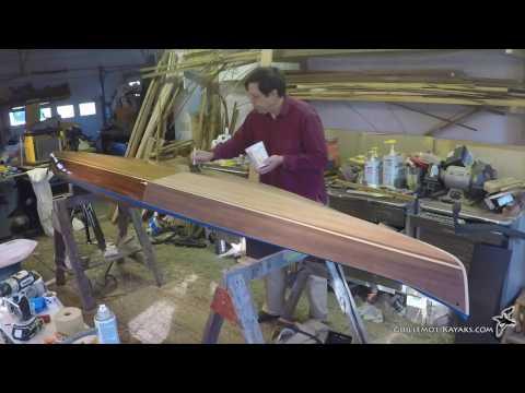 Varnishing a Strip Built Kayak