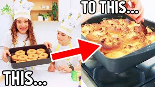 COOKING A VIRAL TIKTOK DONUT BAKE w/ Sabre and Naz