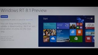 Windows 8.1 Preview Install on Microsoft Surface RT