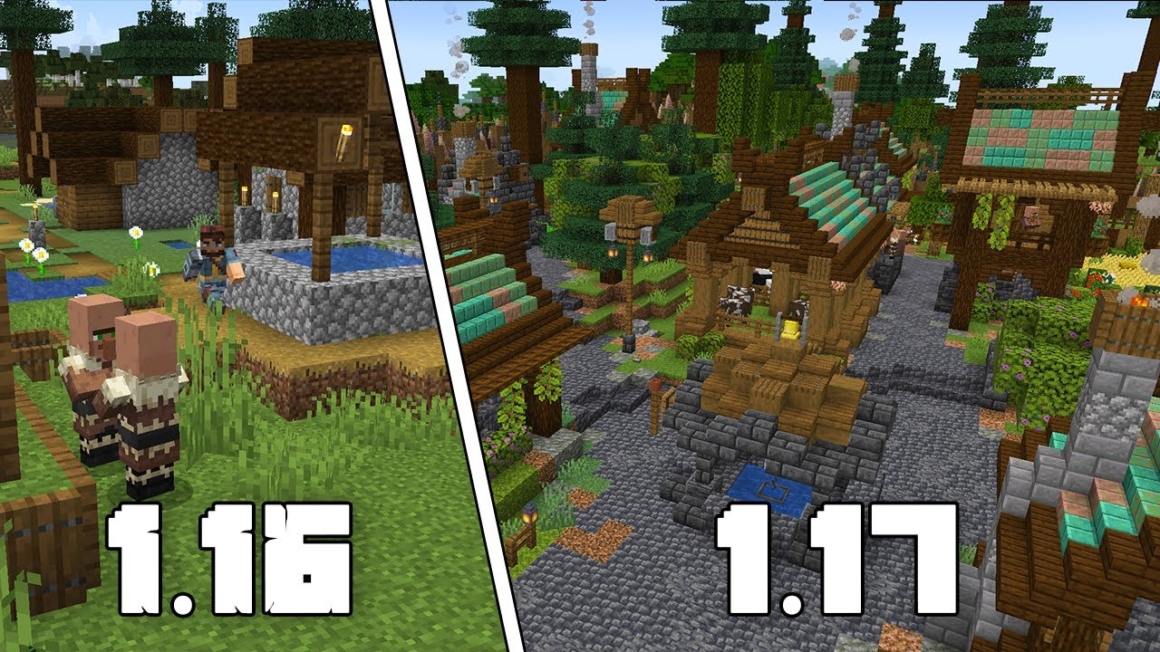 Minecraft 1.17 Village Transformation [Caves & Cliffs Edition]