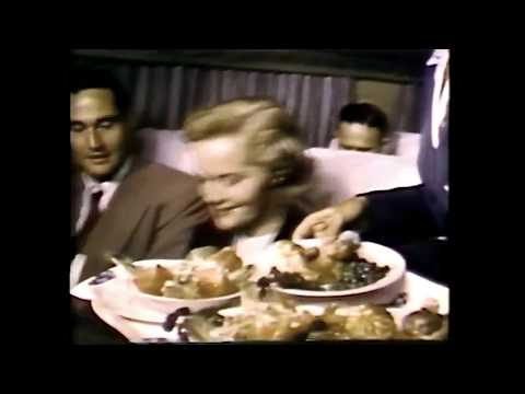VHS-Rip Pan Am Boeing 377 Stratocruiser Inflight Service Promo Film 1950