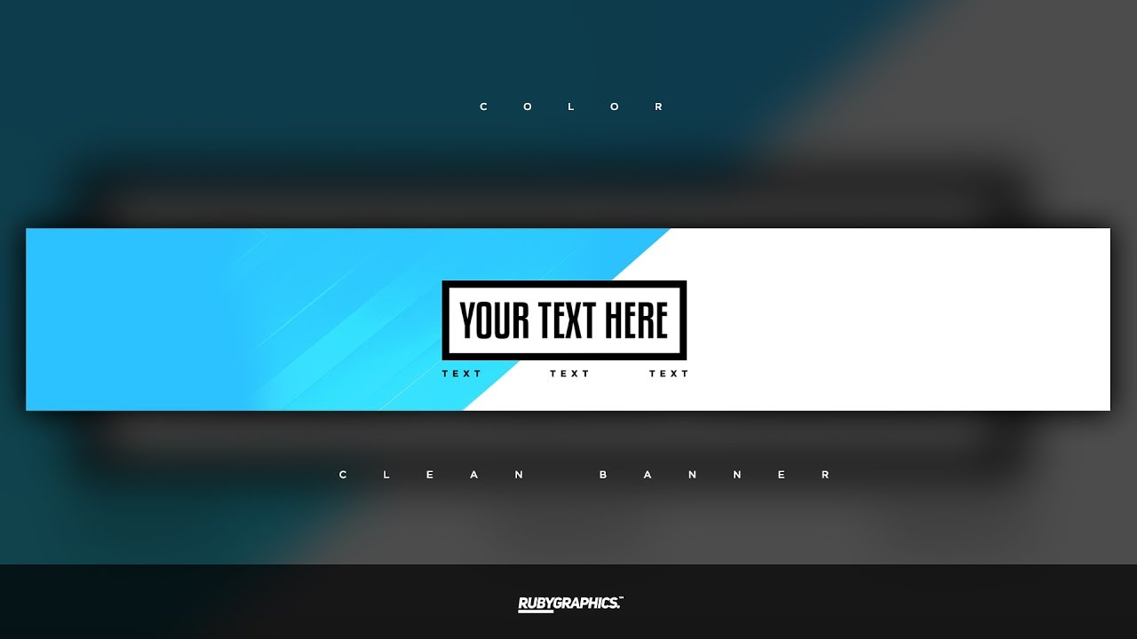 Free Gfx Photo Banner Template Clean 2d Custom Colors Design