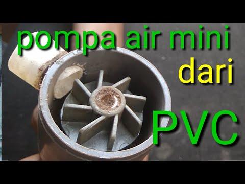 CARA MEMBUAT POMPA AIR MINI DARI PVC , How To Make A Mini Water Pump From PVC