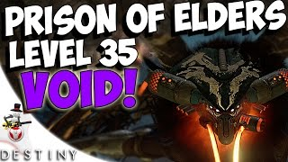 Destiny - SKOLAS VOID BURN TACTICS - Level 35 Prison Of Elders Skolas