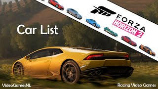 Forza Horizon 2 | Car List Part 1 [First 100 Cars Officially Revealed!] | Xbox One