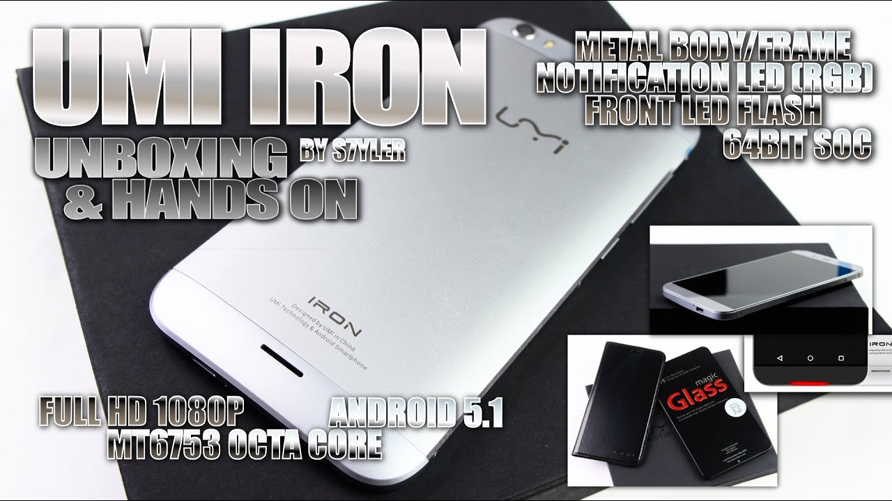 UMI IRON (Unboxing & Hands On) MTK6753, 5.5' Full HD, A ...
