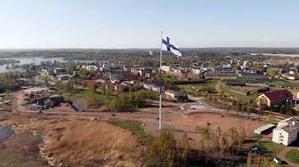 Haminan 100m lipputanko ja suurlippu I Europe's tallest flagpole in Hamina