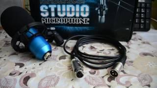 Конденсаторный микрофон BM 800 с AliExpress + стойка + поп фильтр + провод