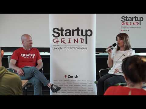 Cristina Riesen (We Are Play Lab) at Startup Grind Zurich w/ David Butler