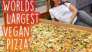 World's Largest Vegan Pizza [Record Breaking]