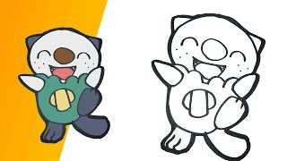 Como dibujar a Oshawott | how to draw Oshawott step by step