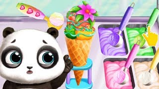 Juega Con Lindo Panda & Aprende a Hacer Helado - Panda Lu Bebé Oso Ciudad - Juegos Para Chicas