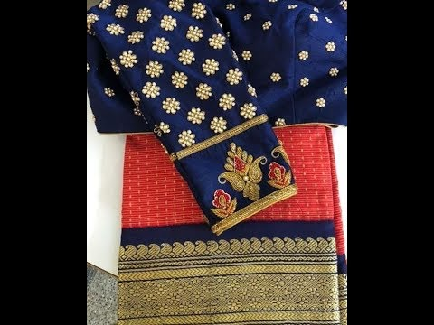 Prabha Blouses Peacock Work Blouse Maggam Work 720p