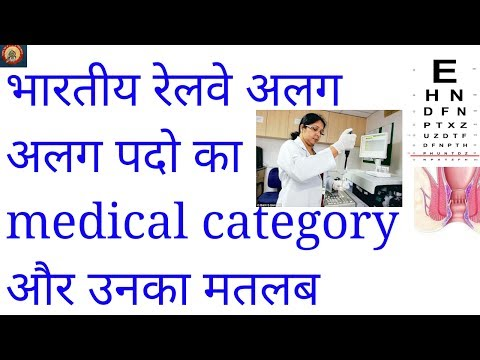 indian railway medical category post wise|A1,A2,A3,B1,B2,C1,C2