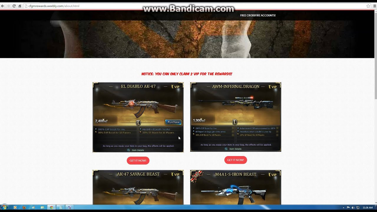 Crossfire Philippines: How to get free Megalotto/VIP Weapons for Free!