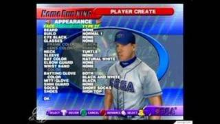 Home Run King GameCube Gameplay - Create-a-player