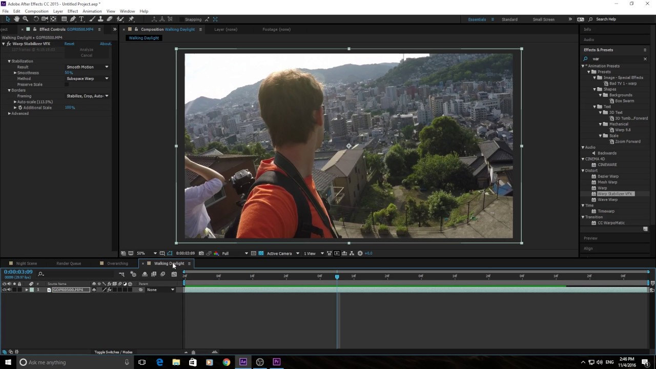 How to Use the Warp Stabilizer Effect in Adobe After Effects CC