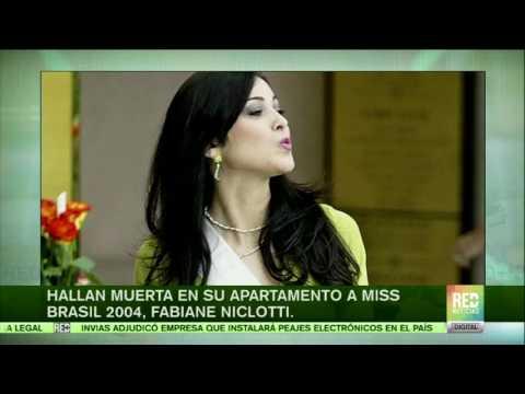 Hallan muerta en su apartamento a Miss Brasil 2004