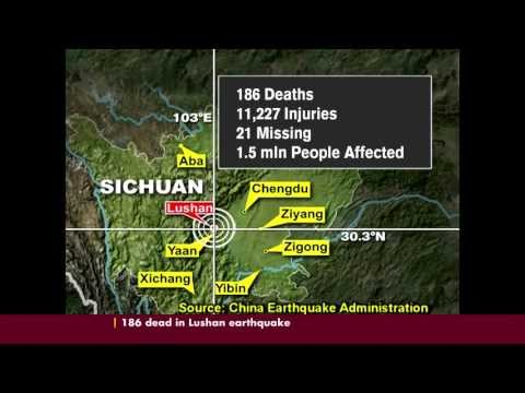 186 DEAD IN CHINAS LUSHAN EARTHQUAKE