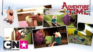 За кадром: Анимация в технике стоп моушен | Время приключений | Cartoon Network