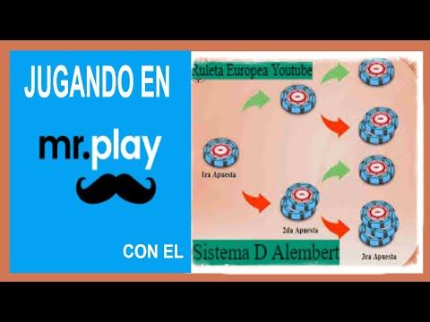 Sistema de Ruleta D'Alembert ✨ (Sencillo y Eficaz) Jugando en Mr.play casino en España ✅