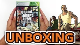 Grand Theft Auto: San Andreas (Xbox 360) Unboxing!!