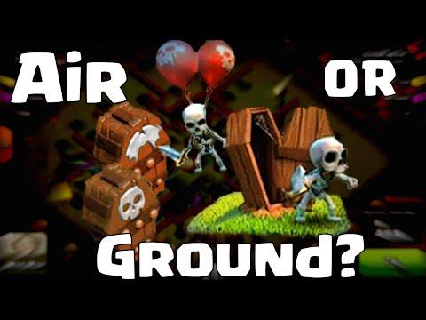 Clash Of Clans Skeleton Trap Defense Air Or Ground | Skeleton Trap Saves Townhall
