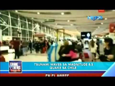 Tsunami waves spotted in Chile