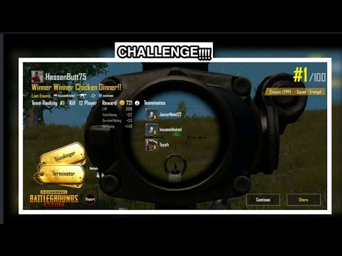 PUBJ : WINNER WINNER CHICKEN DINNER | CHALLENGE | Hassan Studio