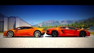 Lamborghini Huracán vs. Lamborghini Aventador Drag Race | Forza Horizon 2