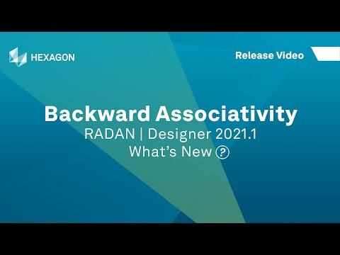 Backward Associativity | RADAN Designer 2021.1