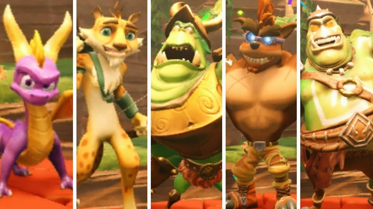 Crash Team Racing Nitro-Fueled - All New Characters & Skins + Victory  Animations & Gameplay