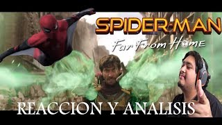 Vídeo Reacción Y Análisis de SPIDERMAN FAR FOR HOME | Trailer | Posibles SPOILERS