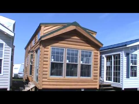 2018 Log Cabin Park Model Rv Cbt39 3 Tiny House Youtube
