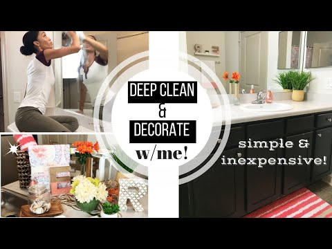 RELAXING AFTER DARK DEEP CLEAN // CLEANING MOTIVATION // INEXPENSIVE BATHROOM MAKEOVER // SAHM
