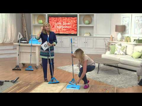 The Wisp Articulating Broom and Dust Pan Floor Cleaning System with Pat James-Dementri