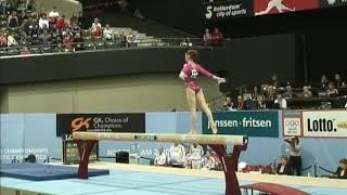 Aliya Mustafina (RUS) Balance Beam Team Qualifications 2010 Rotterdam World Championships