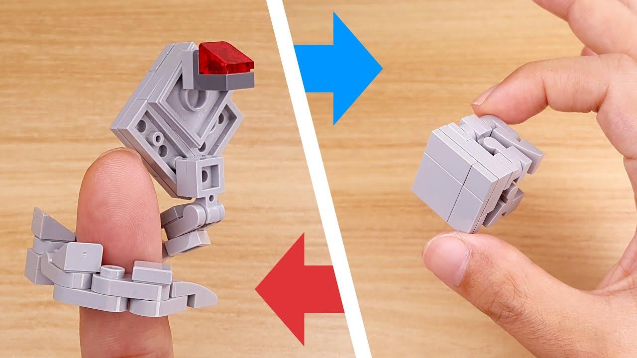 How to build LEGO brick micro transformer mech - Cubra